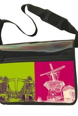 ART-DOMINO® by SABINE WELZ CITY-BAG - Unikat - Nummer 569 mit Amsterdam-Motiven