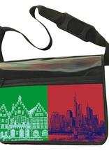 ART-DOMINO® by SABINE WELZ CITY-BAG - Unikat - Nummer 570 mit Frankfurt-Motiven