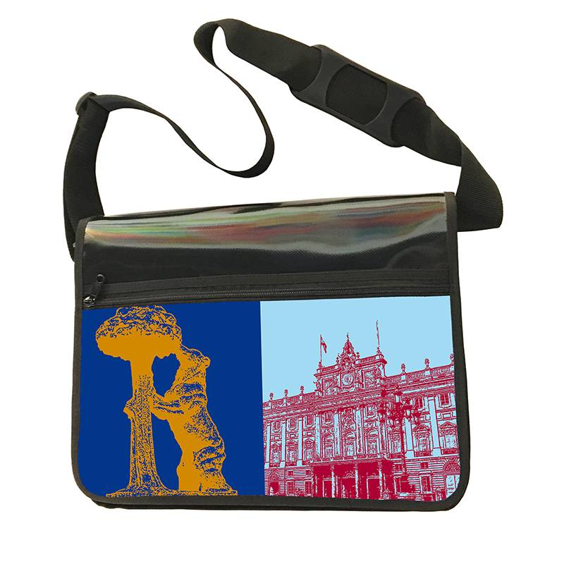 ART-DOMINO® BY SABINE WELZ CITY-BAG - Unikat - Nummer 575 mit Madrid-Motiven