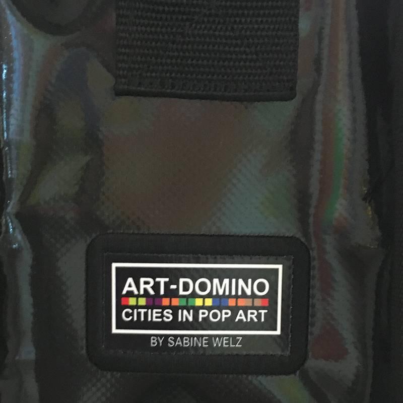 ART-DOMINO® BY SABINE WELZ CITY BAG - Unique - Number 577 with  Prague motifs