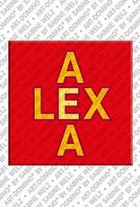 ART-DOMINO® BY SABINE WELZ Alexa - Magnet mit dem Vornamen Alexa