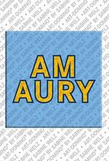 ART-DOMINO® BY SABINE WELZ Amaury - Magnet mit dem Vornamen Amaury