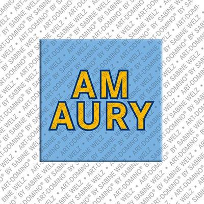 ART-DOMINO® by SABINE WELZ Amaury - Aimant avec le nom Amaury