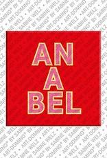 ART-DOMINO® BY SABINE WELZ Anabel - Magnet mit dem Vornamen Anabel