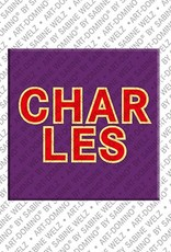 ART-DOMINO® by SABINE WELZ Charles - Magnet with the name Charles