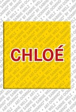 ART-DOMINO® by SABINE WELZ Chloé - Magnet with the name Chloé