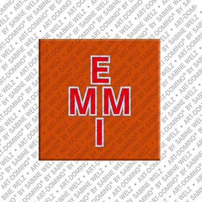 ART-DOMINO® by SABINE WELZ Emmi - Magnet with the name Emmi