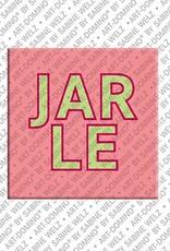 ART-DOMINO® by SABINE WELZ Jarle - Magnet with the name Jarle