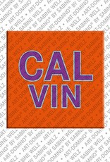 ART-DOMINO® by SABINE WELZ Calvin - Magnet with the name Calvin