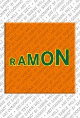 ART-DOMINO® by SABINE WELZ Ramon - Magnet with the name Ramon