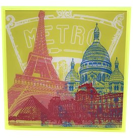 ART-DOMINO® by SABINE WELZ PHOTO ACRYLIQUE - PARIS - COLLAGE 01 - Dans un cadre acrylique moderne