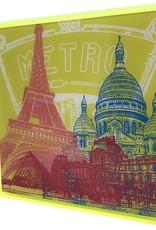 ART-DOMINO® by SABINE WELZ Paris - Collage - 01 + Frame