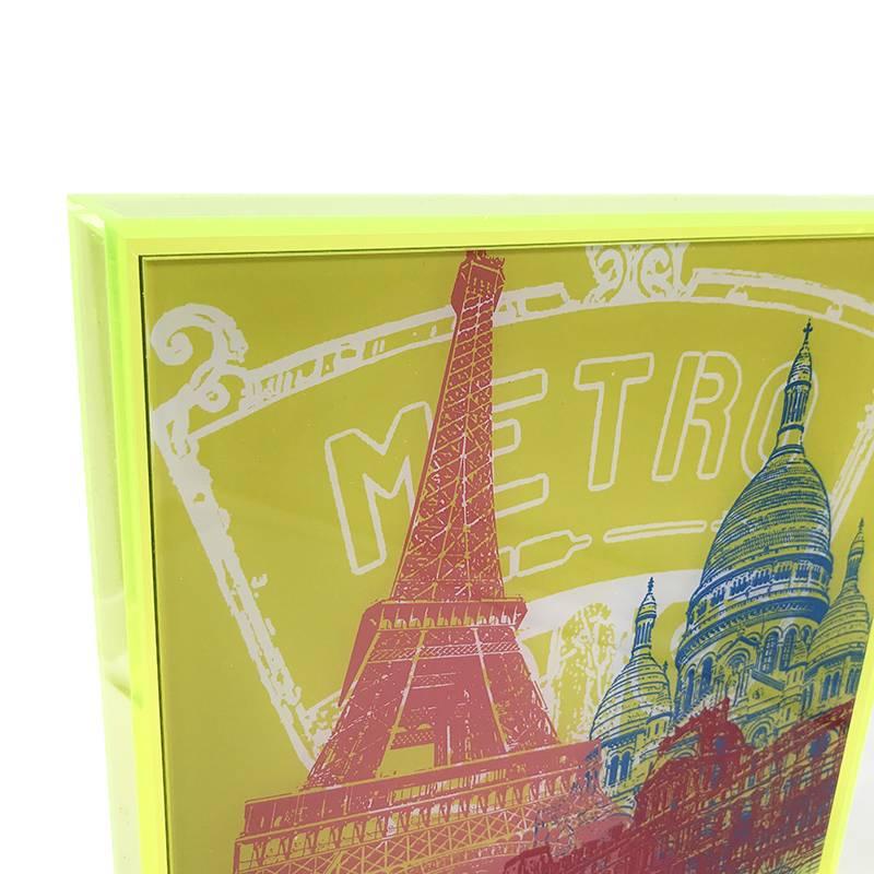 ART-DOMINO® by SABINE WELZ Paris - Kollage - 01 + Rahmen