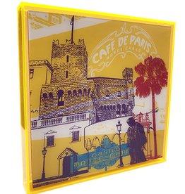 ART-DOMINO® BY SABINE WELZ ACRYLBILD - MONACO - KOLLAGE 01 - In modernem Acrylglasrahmen