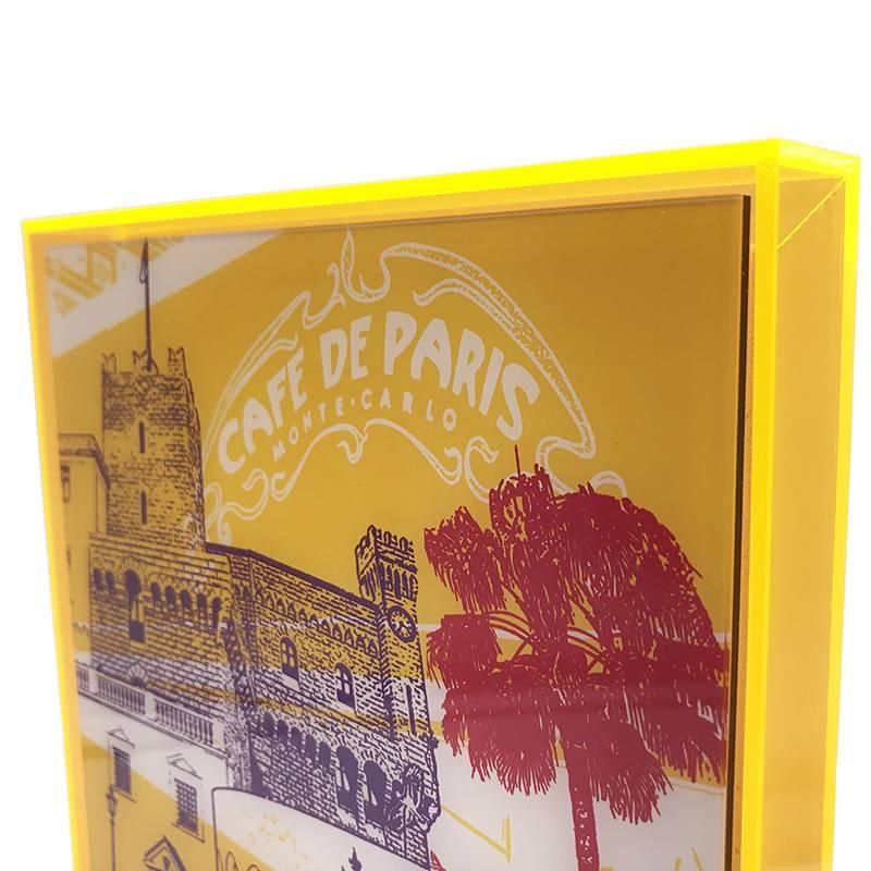 ART-DOMINO® by SABINE WELZ Monaco - Kollage - 01 + Rahmen