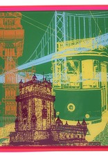 ART-DOMINO® BY SABINE WELZ Lissabon - Kollage - 01 + Rahmen
