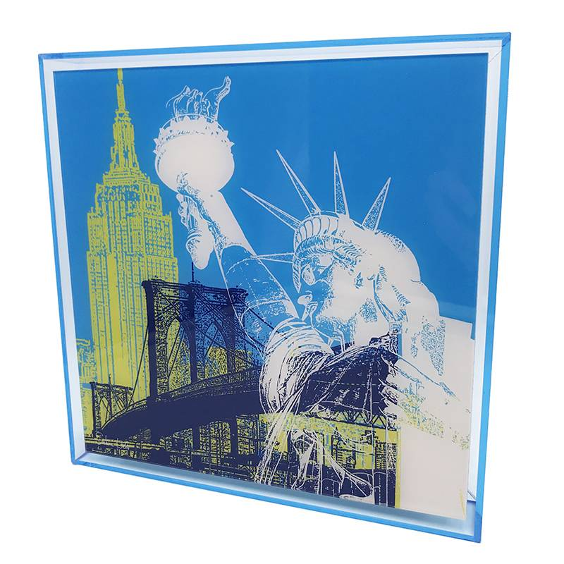 ART-DOMINO® by SABINE WELZ New York - Kollage - 01 + Rahmen