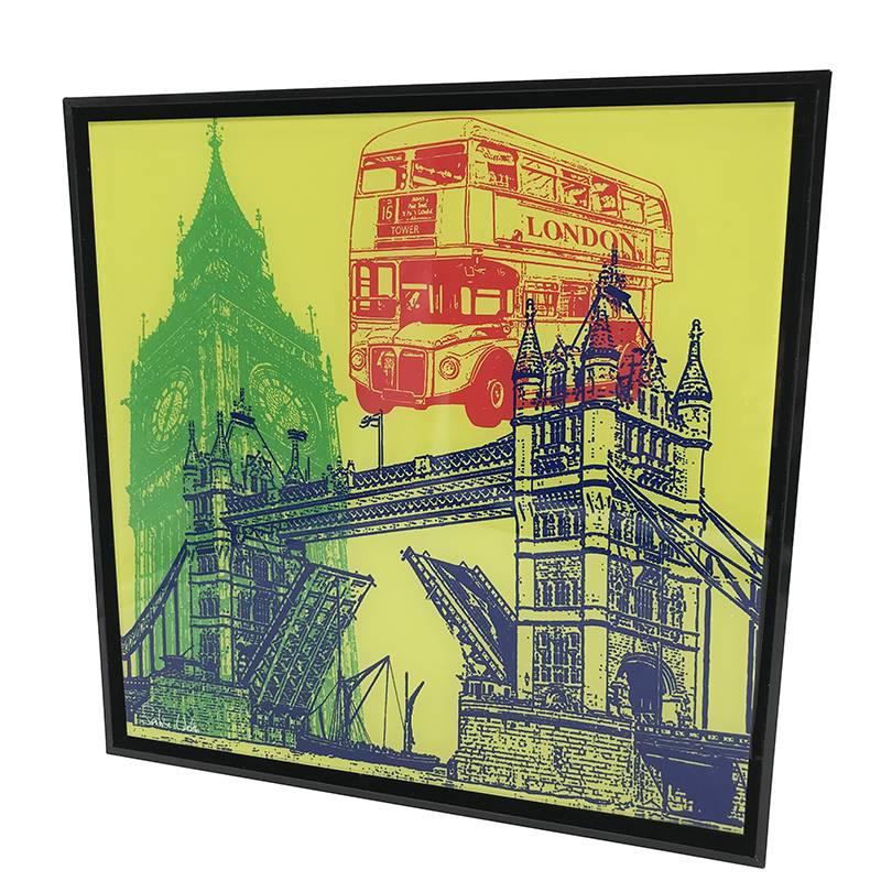 ART-DOMINO® by SABINE WELZ London - Collage - 01 + Cadre