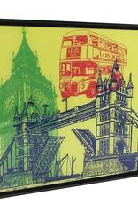 ART-DOMINO® by SABINE WELZ London - Kollage - 01 + Rahmen