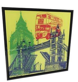 ART-DOMINO® by SABINE WELZ PHOTO ACRYLIQUE - LONDON - COLLAGE 01 - Dans un cadre acrylique moderne