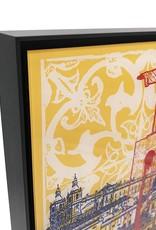 ART-DOMINO® by SABINE WELZ Lissabon - Collage - 02 + Frame