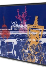 ART-DOMINO® by SABINE WELZ Berlin - Collage - 02 + Frame