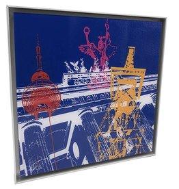 ART-DOMINO® BY SABINE WELZ PHOTO ACRYLIQUE - BERLIN - COLLAGE 02 - Dans un cadre en aluminium