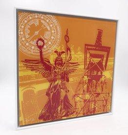 ART-DOMINO® BY SABINE WELZ PHOTO ACRYLIQUE - BERLIN - COLLAGE 03 - Dans un cadre acrylique moderne