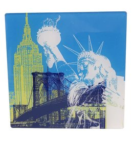 ART-DOMINO® by SABINE WELZ PHOTO ACRYLIQUE - NEW YORK - COLLAGE 01 - Petit
