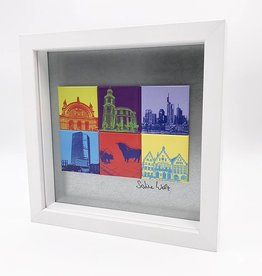 ART-DOMINO® BY SABINE WELZ MAGNETIC PICTURE FRANKFURT MOTIF MIX 6-02