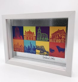 ART-DOMINO® by SABINE WELZ MAGNETIC PICTURE FRANKFURT MOTIF MIX 8-01