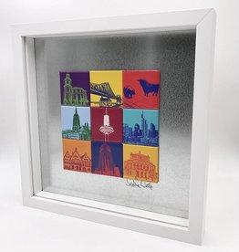 ART-DOMINO® by SABINE WELZ MAGNETBILD FRANKFURT MOTIV-MIX 9-02