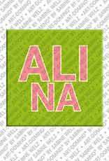 ART-DOMINO® by SABINE WELZ Alina - Magnet mit dem Vornamen Alina