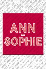 ART-DOMINO® by SABINE WELZ Ann-Sophie - Magnet mit dem Vornamen Ann-Sophie