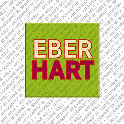 ART-DOMINO® by SABINE WELZ Eberhard - Magnet mit dem Vornamen Eberhard