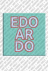 ART-DOMINO® by SABINE WELZ Edoardo - Magnet mit dem Vornamen Edoardo