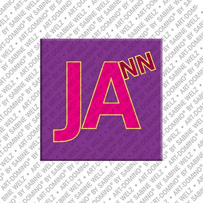 ART-DOMINO® by SABINE WELZ Jann - Magnet mit dem Vornamen Jann