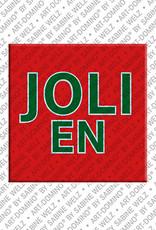 ART-DOMINO® by SABINE WELZ Jolien - Magnet mit dem Vornamen Jolien