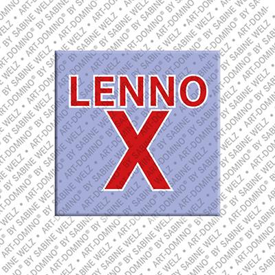 ART-DOMINO® by SABINE WELZ Lennox - Magnet mit dem Vornamen Lennox