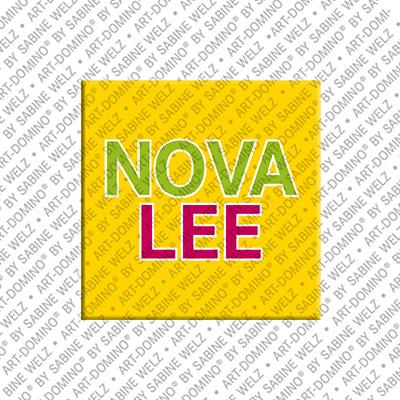 ART-DOMINO® by SABINE WELZ Novalee - Magnet mit dem Vornamen Novalee