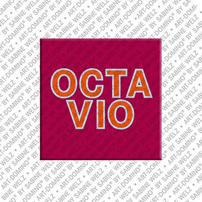 ART-DOMINO® by SABINE WELZ Octavio - Magnet mit dem Vornamen Octavio