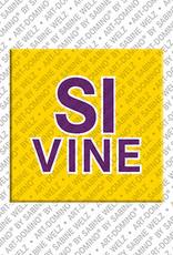 ART-DOMINO® by SABINE WELZ Sivine - Magnet mit dem Vornamen Sivine