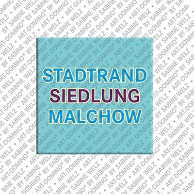 ART-DOMINO® by SABINE WELZ Berlin-Stadtrandsiedlung-Malchow – Schriftzug