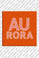 ART-DOMINO® by SABINE WELZ Aurora - Magnet mit dem Vornamen Aurora