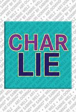 ART-DOMINO® by SABINE WELZ Charlie - Magnet mit dem Vornamen Charlie