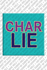 ART-DOMINO® by SABINE WELZ Charlie - Magnet with the name Charlie