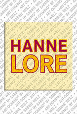 ART-DOMINO® by SABINE WELZ Hannelore - Magnet mit dem Vornamen Hannelore