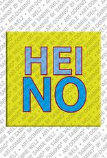 ART-DOMINO® by SABINE WELZ Heino - Magnet mit dem Vornamen Heino