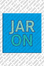 ART-DOMINO® by SABINE WELZ Jaron - Magnet with the name Jaron
