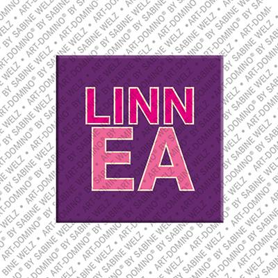 ART-DOMINO® by SABINE WELZ Linnea - Magnet mit dem Vornamen Linnea